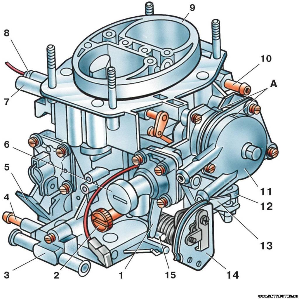 Схема карбюратора 21053 20